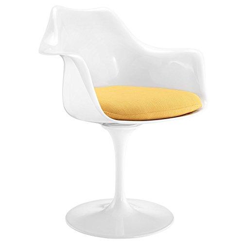 Modway Lippa Dining Fabric Armchair, Yellow
