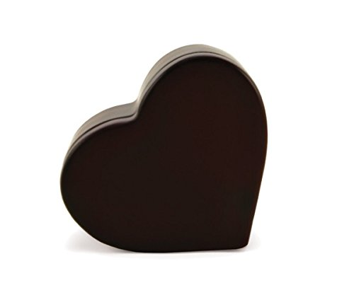Heart Memory Chest Wood Heart Memorial Keepsake Urns - Extra Small Holds 1 Cubic Inch of Ashes - Cherry Wood Brown Cremation Urn for Ashes - Engraving Sold Separately