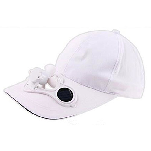 Fashionwu Unisex Peaked Cap Summer Baseball Hat with Solar Powered Fan Cooling Fan Cap for Camping Traveling Outdoor Activities (Cooling Cap Fan Solar)