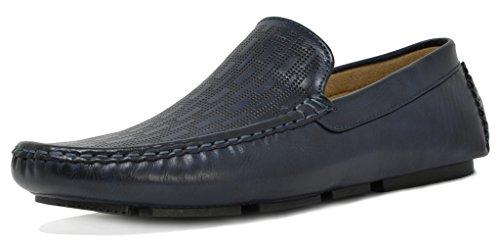 Bruno Marc Heren Philipe-01 Penny Loafers Mocassins Schoenen Navy-2