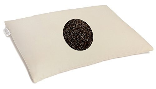 Millet Hull Pillows (Buckwheat Pillow - Buckwheat Hull Support Pillow Off White /Cream Organic Buckwheat Pillow - Standard Size (14x 19