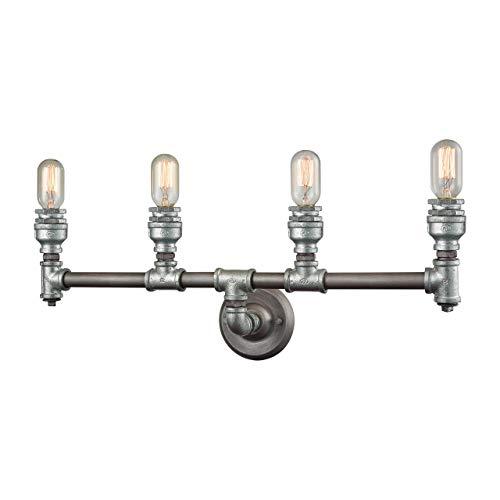 Elk Lighting 10685/4 Vanity-Lighting-fixtures, 10 x 28 x 6, Gray