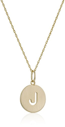 Disc Initial Charm Necklace (14k Gold-Filled Round Pierced Initial