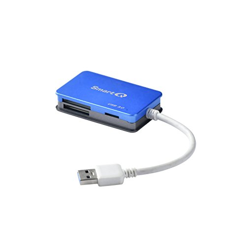 SmartQ C368 USB 3.0 Multi-Card Reader, Plug N Play, Apple and Windows Compatible, Powered by USB, Supports CF/SD/SDHC/SCXC/MMC/MMC Micro, - Reader Card Olympus