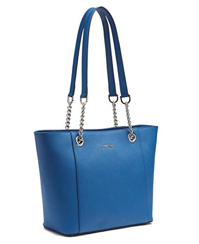Calvin Klein Hayden Saffiano Leather East/West Top Zip Chain Tote, seaport by Calvin Klein (Image #11)
