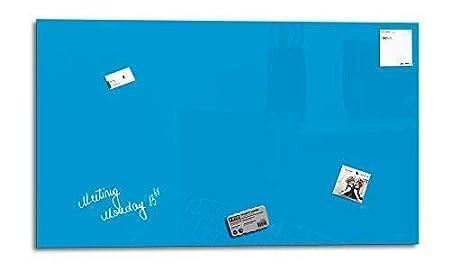 3 Aimants 90 x 45 cm Memo Board Magn/étique Affichage | 1 Marqueur Affichage M/émo Aimant/é Gris Glas Expert Tableau Magnetique en Verre Smart Glass Board /®