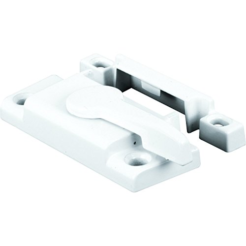 Prime-Line F 2554 Window Sash Lock with Cam Action and Alignment Lugs, White Diecast