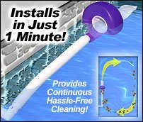 Pooldevil Pro Swimming Pool Automatic Dirt and Leaf Skimmer ()