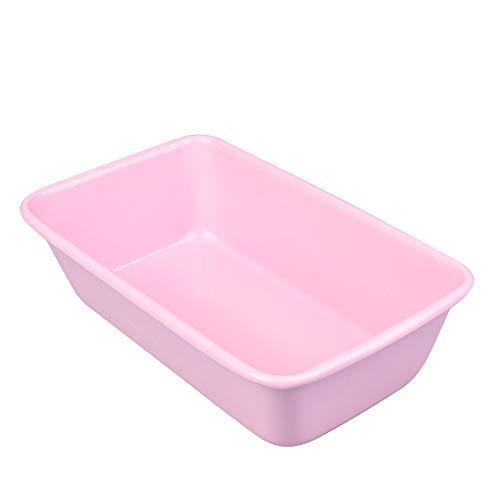 (Pink Loaf Pan 9x5 Baking Bread Meat Tin for Instant Pot Large Banana Pans Meatloaf 2lb Nonstick)
