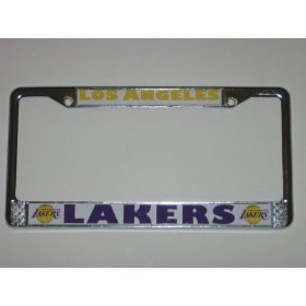 lakers license plate frame chrome - 8
