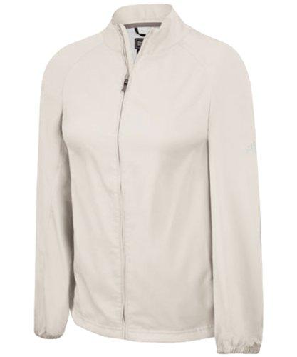 - adidas Women's climaproof Full-zip Wind Jacket - Ecru - Medium