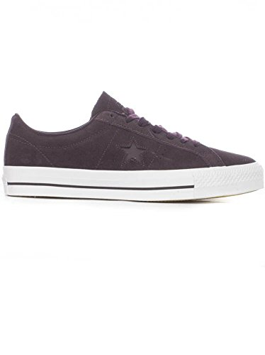 Converse Men's One Star Pro OX Shoes (09.0, Black Cherry/White/White) Converse One Star Suede