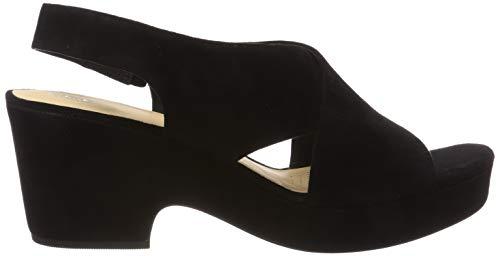 Donna Cinturino Maritsa Alla Caviglia Lara black Nero Con Clarks Suede Sandali 7Bx0wP4xq