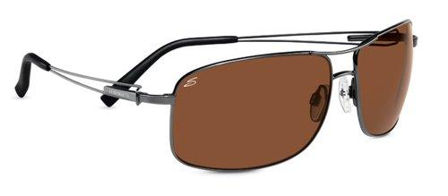 (Serengeti Flex Coll. Sassari Sunglasses Frame 7665 Shiny Gunmetal New)