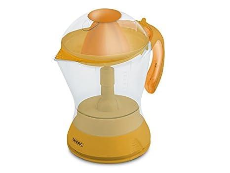 Beper 90.302A - Exprimidor eléctrico con capacidad de 1 l, color naranja: Amazon.es: Hogar