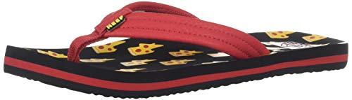 Reef Unisex AHI Sandal, Pizza Bolt, 2-3 Medium US Little ()