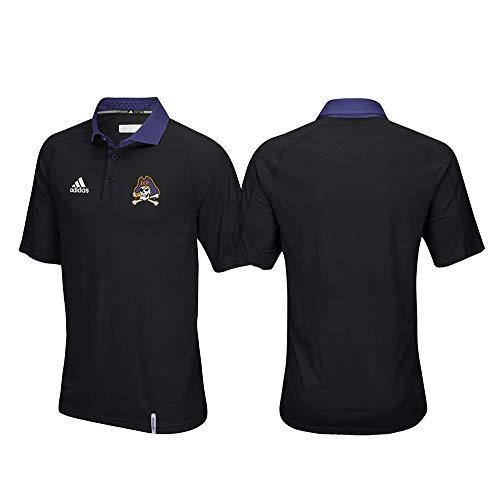 adidas East Carolina Pirates NCAA Men's Sideline Climachill Performance Black Polo Shirt ()