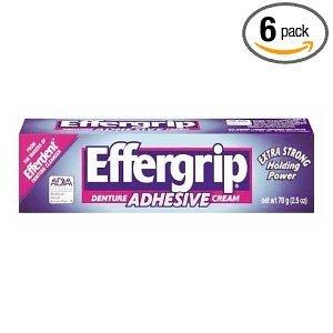 Effergrip Denture Adhensive Cream, Extra Holding Power, 2.5 Fl Oz (Pack of (Effergrip Cream)
