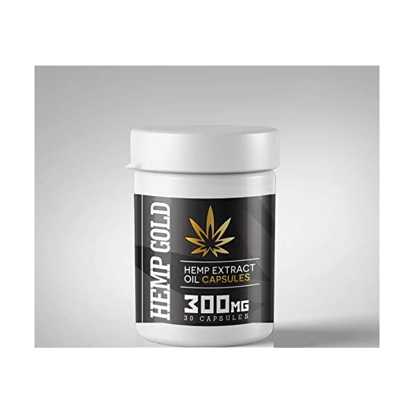GoldStarHerbals Hemp Oil Capsules 30 Soft Gels – Sleep Aid – May Help Reduce Stress, Anxiety and Pain – Anti-inflammatory – Manufactured to The Highest GMP Standards.