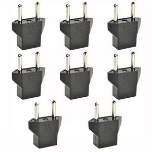 Inovat 8 PCS American USA to European Outlet Plug (Pc Usa Adapter)