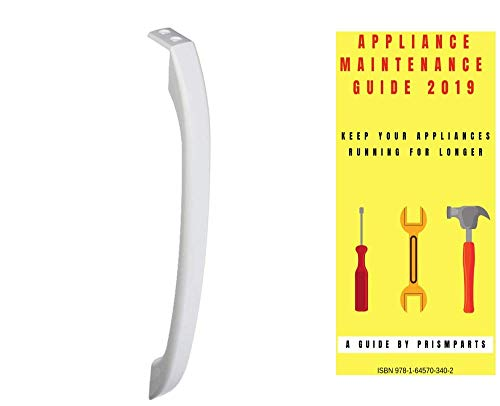 For Frigidaire Refrigerator Or Freezer Side Door Handle PP9354112FR1111 Bundle with PrismParts Appliance Maintenance Guide 2019 (Ships Separately)