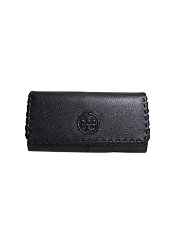 Tory Burch Marion Envelope Continental Wallet in Black
