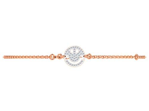 Libertini bracelet argent 925 femme plaque or Rose serti de Diamant