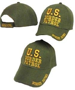 JumpingLight U.S. Border Patrol Green/Yellow Embroidered Cap Hat for Home, Official Party, All Weather Indoors Outdoors