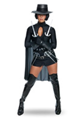 Secret Wishes Womens V For Vendetta Costume, Black, Medium