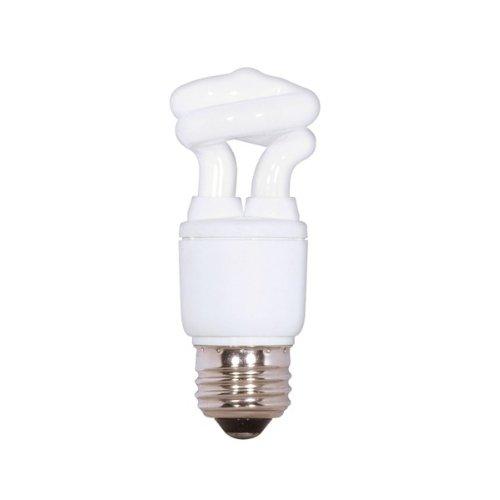 (Pack of 6) Satco S7261, 5-Watt Medium Base T2 Mini Spiral, 2700K, 120V, Equivalent to 30-Watt Incandescent Lamp for Enclosed Fixtures, Compact Fluorescent Bulb