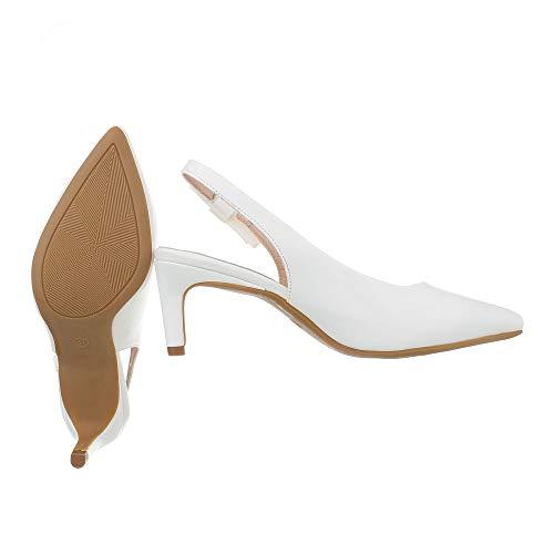 Weiß Tacco Donna Gh11533 Col Ital design Scarpe pXRWgnxw0