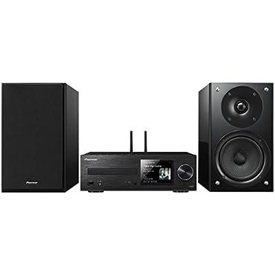 Pioneer X-HM86D B  Micro Hifi System  for CD  MP3  DAB  Radio Playback  Wifi  Bluetooth  Music Apps  Spotify  Tidal  Deezer   Watt Channel  Streaming  Multiroom  Front USB Audio in   Black