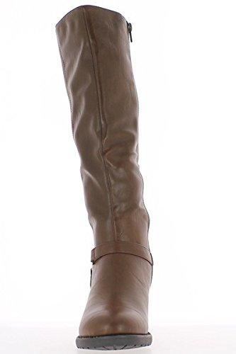 ChaussMoi Boots Chestnut women doubled to 6.5 cm heel 9Vcbq