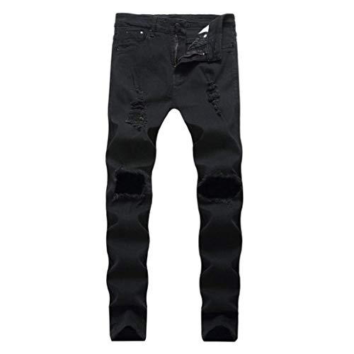 Ragazzi Tape Uomo Elasticizzati Nero Rt Aderenti Allenamento Strappati Mitlfuny Slim Da Classiche Pantaloni Jeans Motociclista wOYFxO