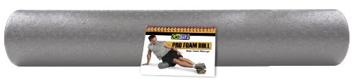 GoFit Pro High Density Foam Roller with Training Manual, Gre