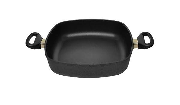 Woll Nowo Titanium - Sartén de Carne 28 cmx28 cm de Aluminio Fundido Cuadrado: Amazon.es: Hogar