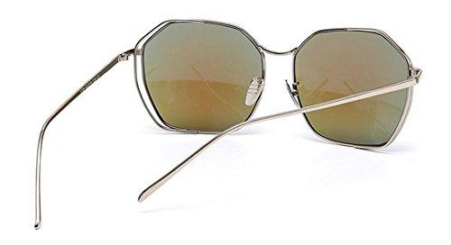 soleil lunettes style inspirées polarisées rond cercle Film Bleu retro Lennon du de vintage métallique en HgqnHwrx