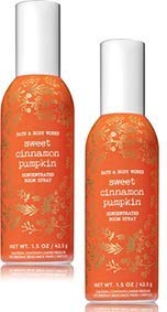 Bath and Body Works 2 Pack Sweet Cinnamon Pumpkin Room Spray 1.5 Oz.