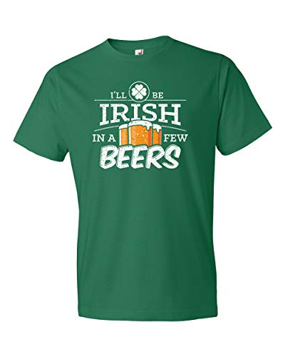 (Panoware Men's St Patricks Day T-Shirt | Irish in a Few Beers, Kelly Green, L)