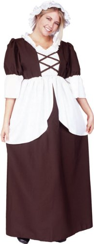 Women's Plus Size Colonial Lady Costume (Size: XX-Large 16-18)