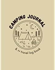Camping Journal & RV Travel Logbook: The Essential Travel Record & Reference, Road Trip Planner, Caravan Travel Journal, Glamping Diary, Camping Journal and RV Travel Log Book for RVers and Campers