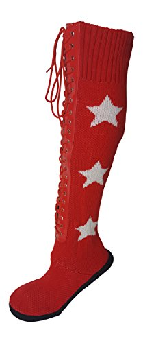 [Pro Wrestling Costume Boot Slippers-L-Red] (Macho Man Randy Savage Costume)