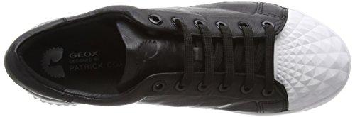 Geox D Jaysen C, Baskets Basses Femme Noir (C9999)