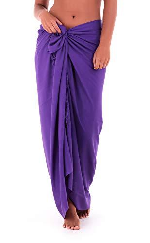 Shu-Shi Womens Beach Cover Up Sarong Swimsuit Cover-Up, Purple, One Size,Purple,One Size