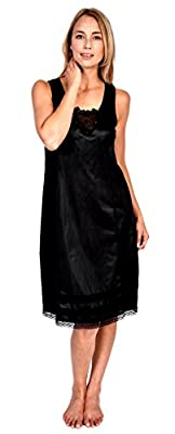 "Womens Patricia Lingerie Full Slip Lace Detail Snip-it Lengths 36"" 38"" 40"""
