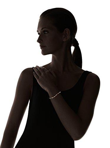 OR ECLAT Bracelet Or Tricolore 375° et Oxydes de Zirconium Femme