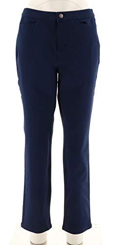 Liz Claiborne NY Bi-Stretch Ankle Pants Navy 4 New A267335 from Liz Claiborne New York