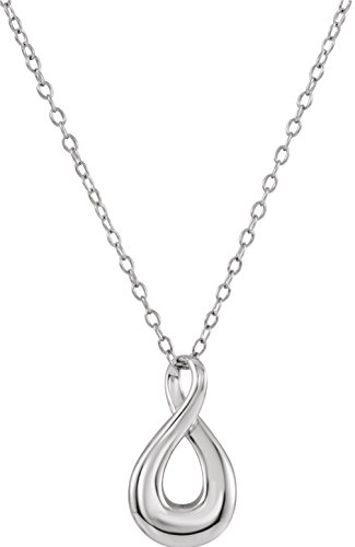 Infinity Loop Ash Holder Necklace, Rhodium Plated Sterling Silver, 18'' by The Men's Jewelry Store (Unisex Jewelry)