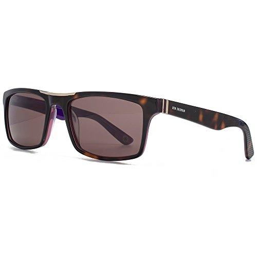 Ben Sherman Premium lunettes de soleil rétro rectangle en écaille de Jack BENP001-TOR Tortoiseshell Brown