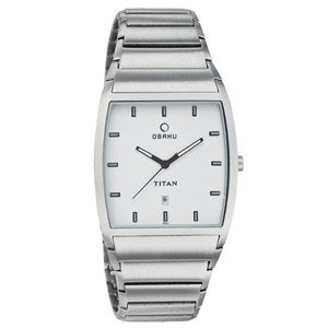 Titan Obaku Analog White Dial Men's Watch - NC9437SM01